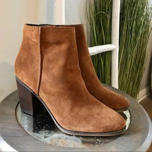 Aldo | Cognac Brown Suede Leather Ankle Boots
